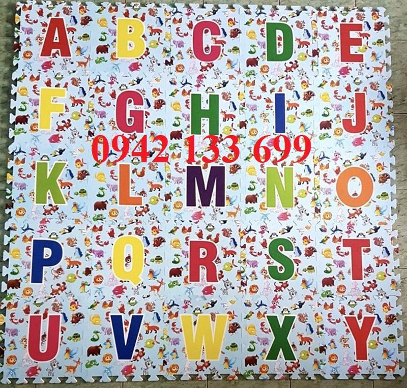 Thảm cho bé Hình Chữ dạng scan